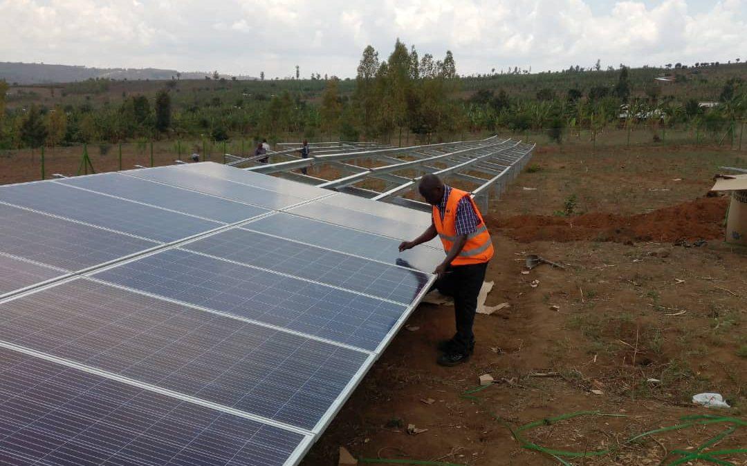 Solar hybrid mini-grid in the village of Rutenderi (Rwanda)